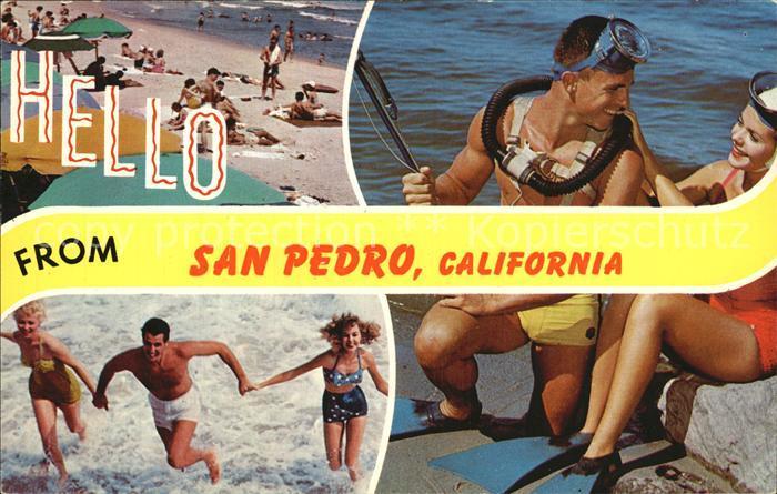 San Pedro California Strand Tauchen Kat. San Pedro