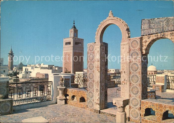 Tunis Die Daecher der Medina Kat. Tunis