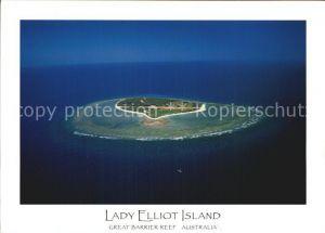Lady Elliot Island Great Barrier Reef Fliegeraufnahme