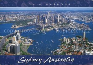 Sydney New South Wales Sydney Opera Sydney Bridge Lavender Bay Fliegeraufnahme Kat. Sydney