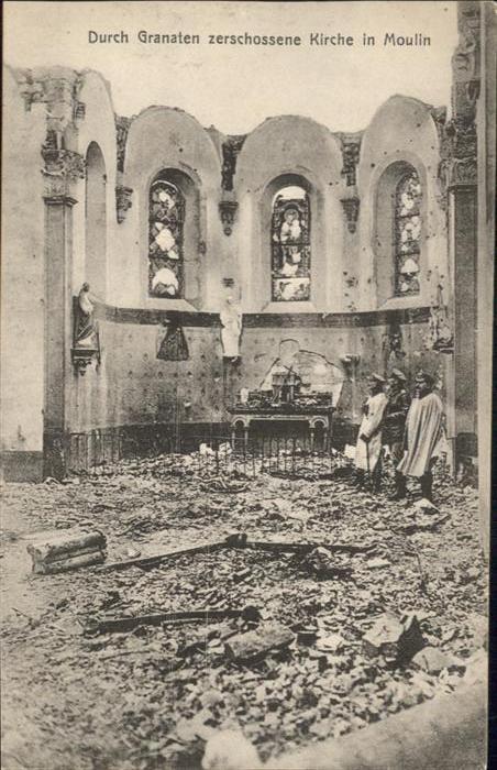 Moulin-sous-Touvent Moulin Kirche Zerstoerung * / Moulin-sous-Touvent /Arrond. de Compiegne