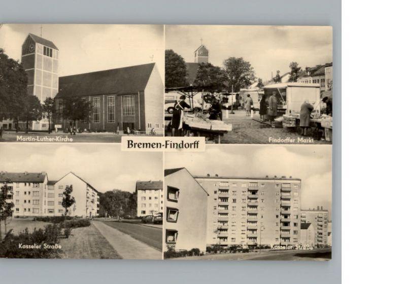 Findorff Kasseler Strasse Markt Martin-Luther-Kirche / Bremen /Bremen Stadtkreis