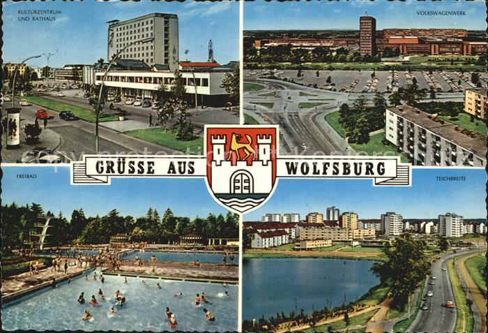 Wolfsburg Kulturzentrum Rathaus Freibad Volkswagenwerk Teichbreite Kat. Wolfsburg