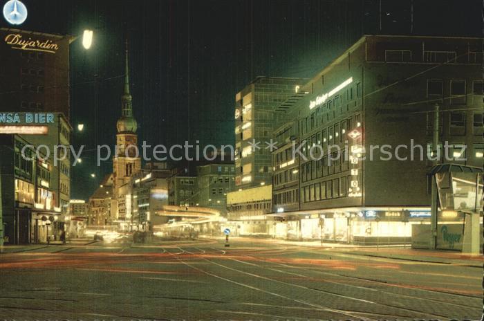 Dortmund Kampstrasse Nacht Kat. Dortmund