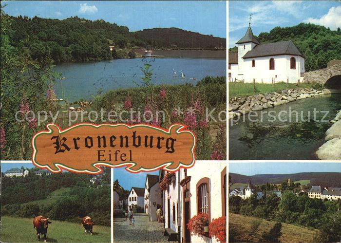 Kronenburg Eifel Kirche Dorfansichten Kat. Dahlem
