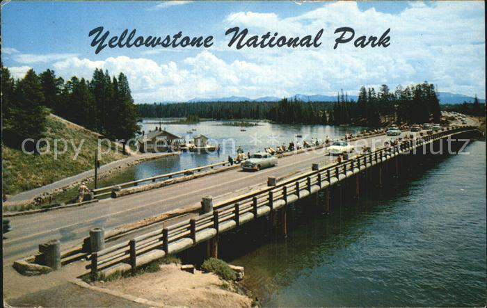 Yellowstone National Park Fishing bridge  Kat. Yellowstone National Park