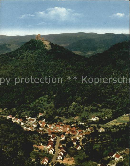 Annweiler Trifels Ortsteil Bindersbach Blick vom Rehberg Kat. Annweiler am Trifels