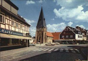 Wittingen Niedersachsen Blick zur Kirche Kat. Wittingen