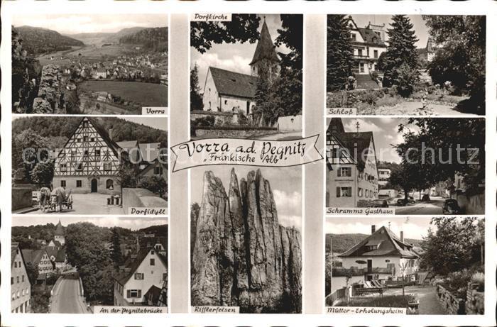 Vorra Pegnitz Schloss Schramms Gasthaus Rifflerfelsen  Kat. Vorra