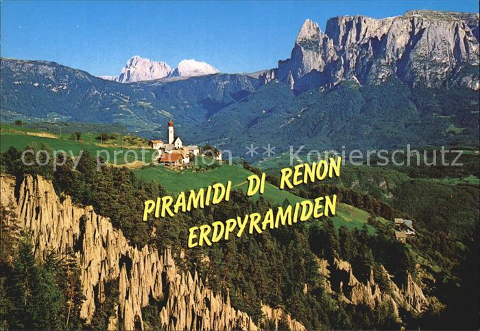 Renon Ritten Monte di Mezzo Erdpyramiden Kat. Renon Ritten Suedtirol