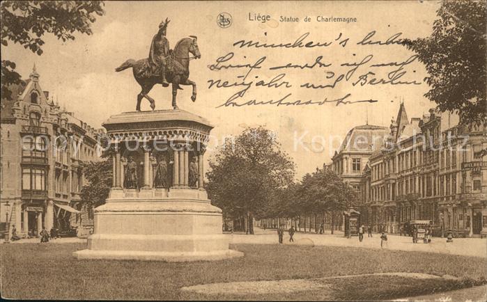 Liege Le Statue de Charlemagne Kat. Le Liege