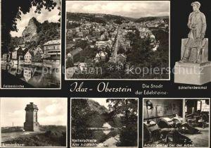 Idar Oberstein Felsenkirche Schleiferdenkmal Bismarckturm Achatschleiferei Kat. Idar Oberstein