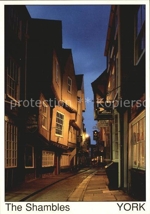 York UK The Shambles at night Kat. York