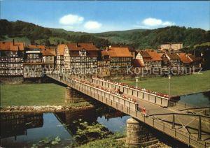 Rotenburg Fulda Fachwerkhaeuser an der Fulda Kat. Rotenburg a.d. Fulda