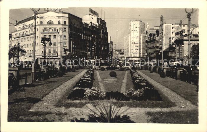 Belgrad Serbien Hotel Balkan Strassenbahn  Kat. Serbien