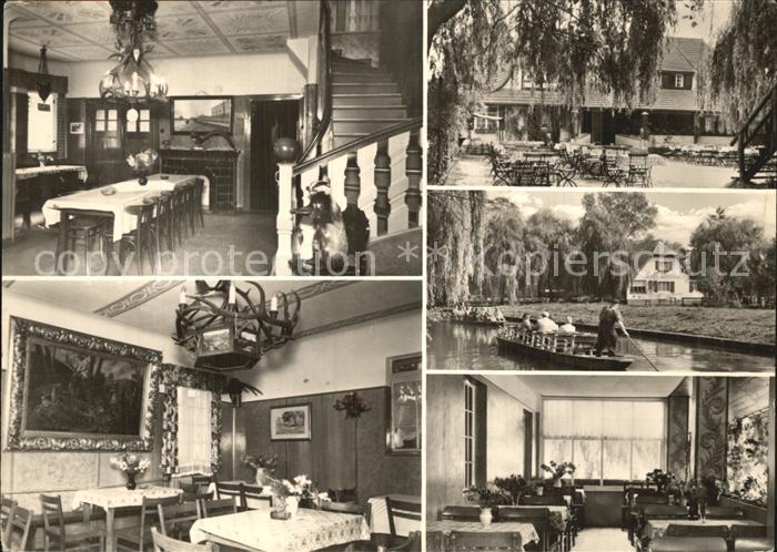 Lehde Cafe Venedig  Kat. Luebbenau Spreewald