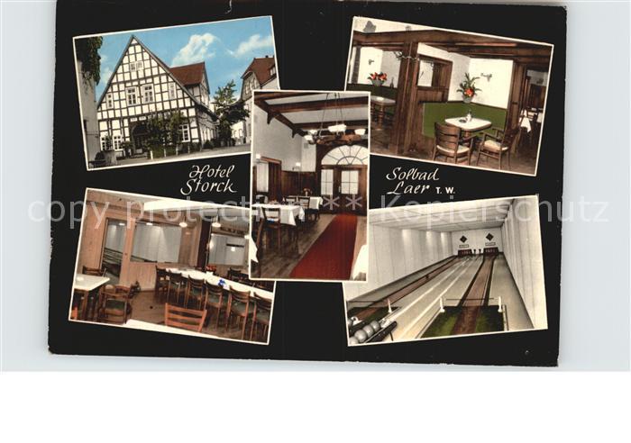 Bad Laer Hotel Storck Gaststube Kegelbahn Kat. Bad Laer