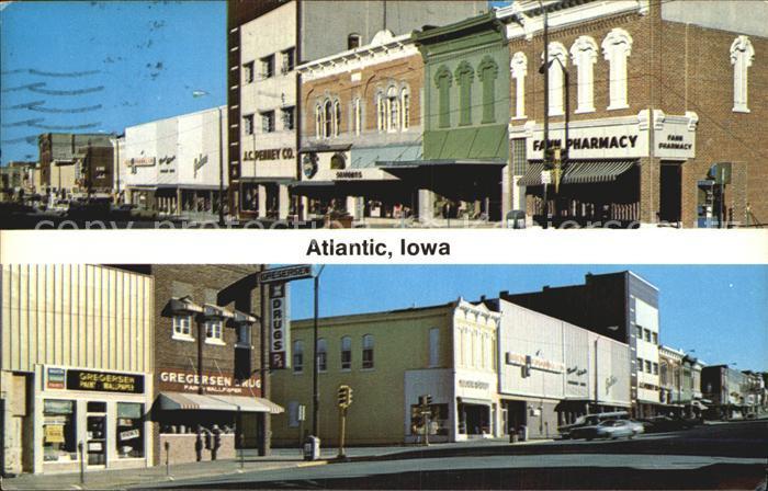 Atlantic Iowa Chestnut Street Kat. Atlantic