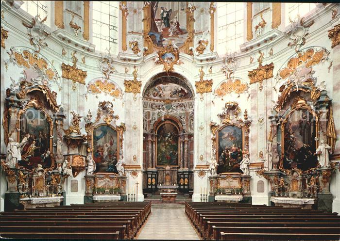Ettal Abteikirche innen Kat. Ettal