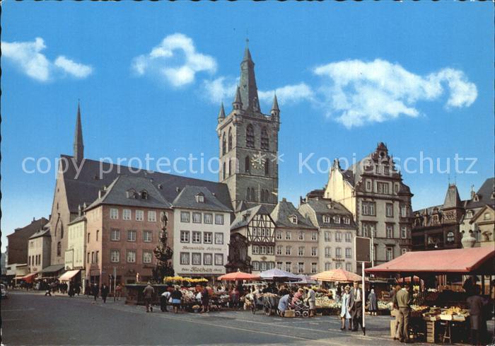 Trier Markt mit St. Gangolf Kat. Trier