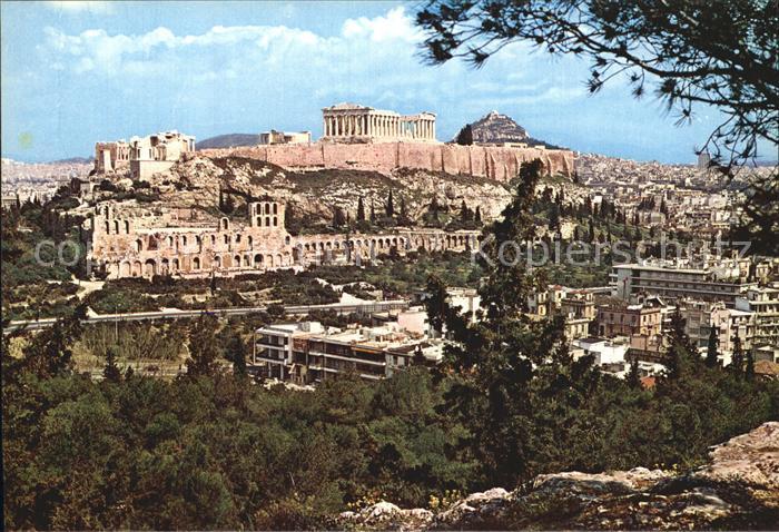 ak ansichtskarte athen griechenland blick auf die akropolis kat nr kc28233 oldthing. Black Bedroom Furniture Sets. Home Design Ideas