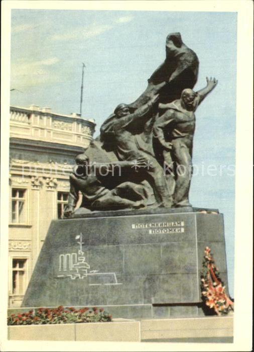 Odessa Ukraine Denkmal Aufstaendische auf Panzerkreuzer Potemkin / Odessa /