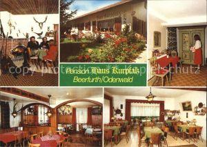 Beerfurth Pension Haus Kurpfalz Kaminzimmer Garten Gastraeume Kat. Reichelsheim (Odenwald)