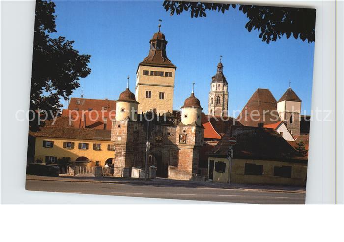Weissenburg Bayern Ellinger Tor mit Kirche Kat. Weissenburg i.Bay.