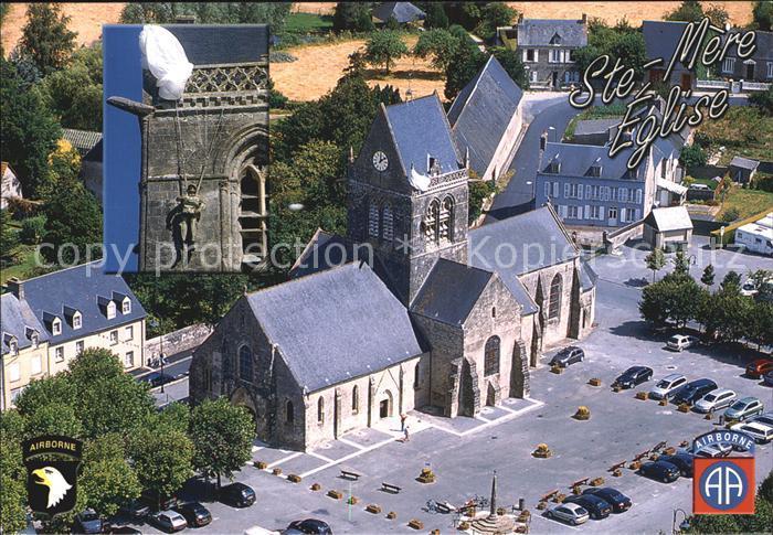 Sainte Mere Eglise Le clocher de l eglise Kat. Sainte Mere Eglise