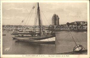 Saint Servan Ille et Vilaine La Tour Solidor et le Port Bateau Kat. Saint Malo