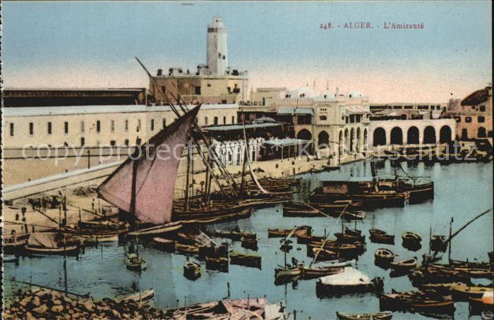 Alger Algerien L Amiraute Hafen