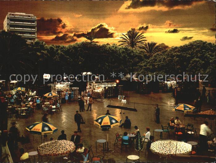 Las Palmas Gran Canaria Vista nocturna del parque de Santa Catalina Kat. Las Palmas Gran Canaria