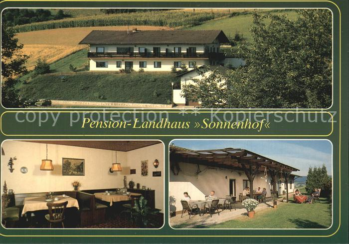 Sonnenhof Pforzheim Pension Landhaus Sonnenhof Gaststube Terrasse Kat. Pforzheim