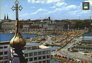 Helsinki Blick vom Uspenski zum Marktplatz Kat. Helsinki