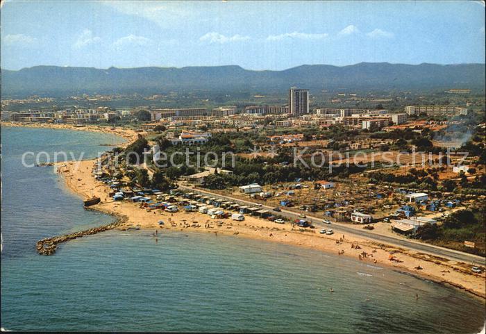 Cambrils Detalle de la Costa al fondo Urbanizacion Cambrils Bahia vista aerea Kat. Costa Dorada
