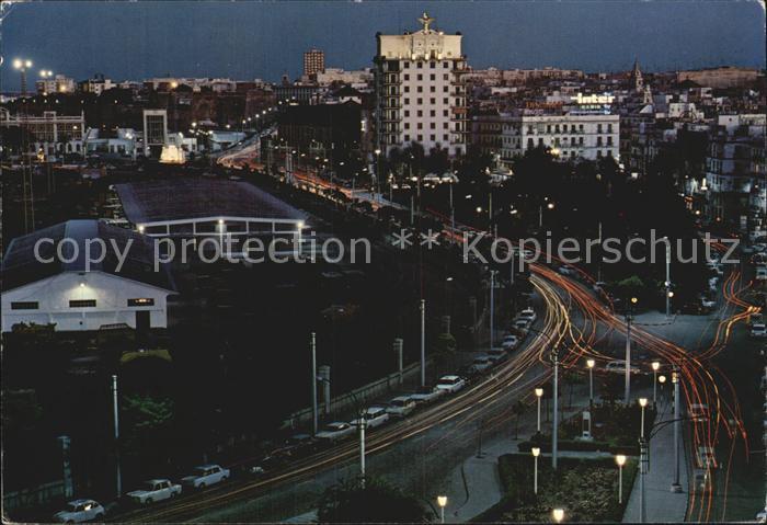 Cadiz Andalucia Avenida Ramon de Carranza de noche Kat. Cadiz