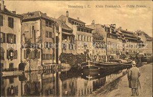 Strassburg Elsass Klein Frankreich Petite France Kanal Frachtkahn Kat. Strasbourg