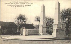 Chateau Thierry Monument de la 3e Division de l Armee des Etats Units Kat. Chateau Thierry