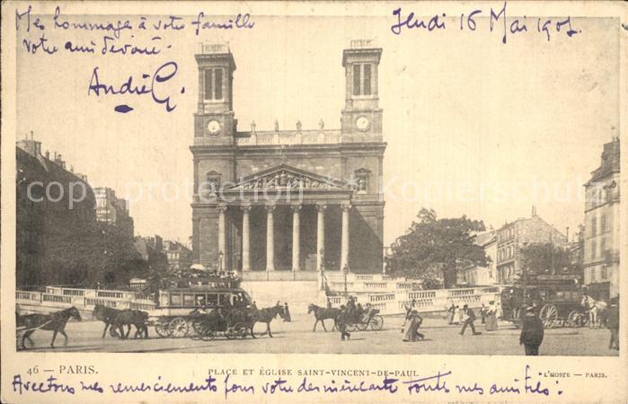 Paris Place et Eglise Saint Vincent de Paul Kat. Paris