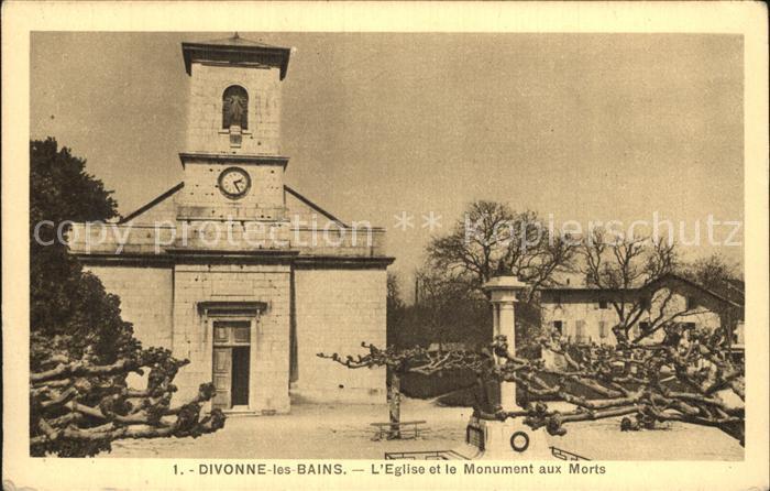 Divonne les Bains Eglise et Monument aux Morts Kirche Kriegerdenkmal Kat. Divonne les Bains