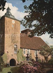 Burgsteinfurt Schloss Steinfurt Westansicht des Uhrturmes Kat. Steinfurt