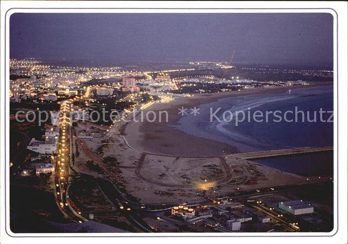 Agadir Vue la nuit de la baie Kat. Agadir