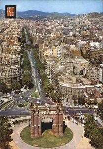 Barcelona Cataluna Arco de Triunfo y Paseo San Juan Vista aerea Kat. Barcelona