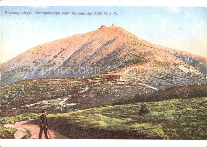 Riesengebirge Schneekoppe vom Koppenplan Kat. Tschechische Republik