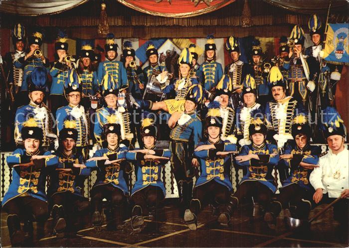 Koeln Rhein Treuer Husar Blau Gelb Tanz Musik Reitercorps  Kat. Koeln