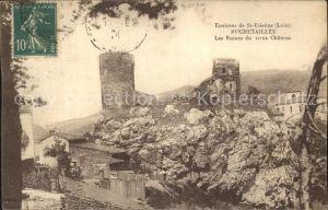 Rochetaillee Saint Etienne Les Ruines du vieux Chateau Kat. Saint Etienne