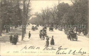 Paris Bois de Boulogne Les Acacias Pferdedroschken Kat. Paris