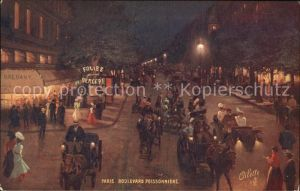 Paris Boulevard Poissonniere la nuit Carte Postale Tuck Oilette Serie 950 No 57 Collection Villes de France Kat. Paris