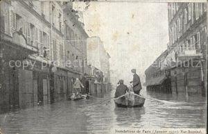 Paris Inondations Crue de la Seine Hochwasser Katastrophe Kat. Paris