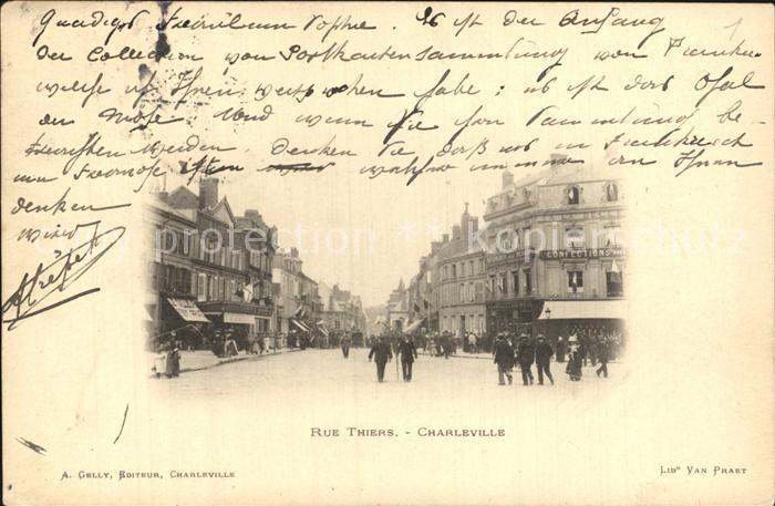 Charleville Mezieres Rue Thiers Kat. Charleville Mezieres